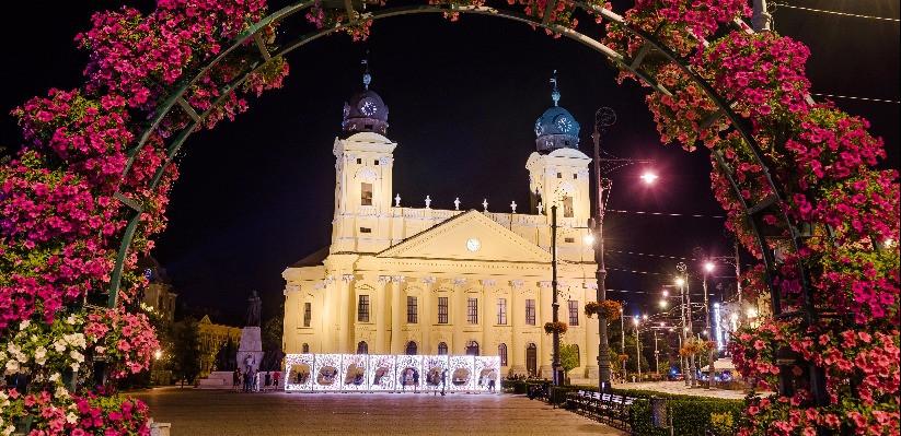 Piaţa centrală din Debrecen